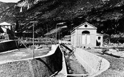 Presentación de la exposición fotografica del inicio de la construcción de las centrales Alto Cinca y Cinqueta